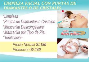Limpieza Facial con Puntas de Diamantes o de Cristales