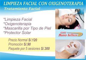 Limpieza Facial con Oxigenoterapia