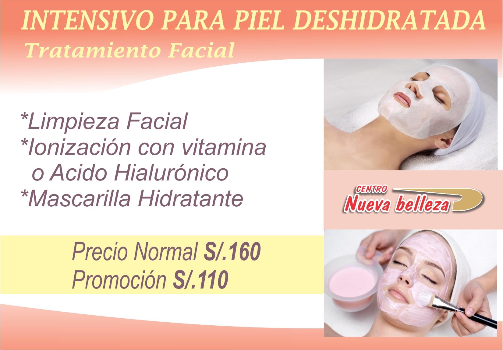 Tratamiento facial para piel deshidratada
